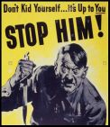 ww2-anti-german-propaganda-poster-illustrating-a-demonic-adolf-hitler-DK18NT