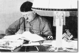 Hitler reading, shadow