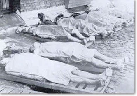 Central Prison Rows of Corpses
