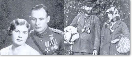 Latvian Home Guard and his Wife - before and after