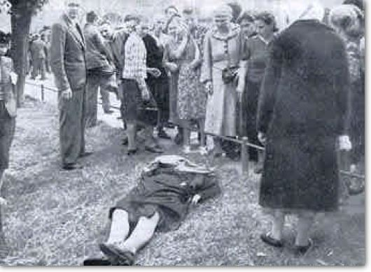 Jews murdered Woman on Latvian streets as they fled