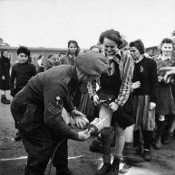 British spray DDT at Belsen 2