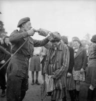 British spray DDT at Belsen 3