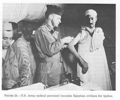 Egypt, Typhus inoculation