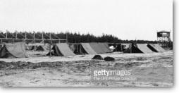 make-shift tents