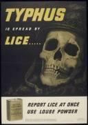 Typhus is spread by lice